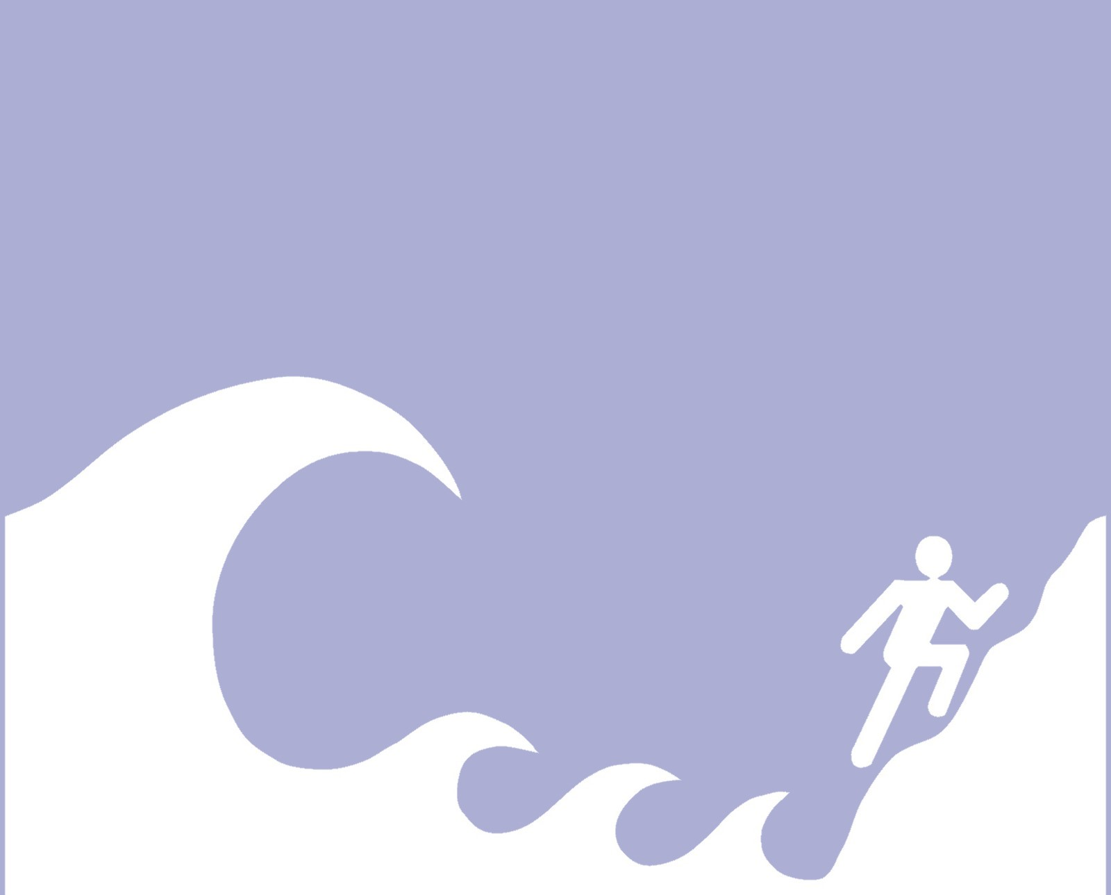 tsunami hazard sign blue notext washington coastal